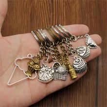 New Key Chain Charm Food Key Ring Sweet Cake keychains Car Metal Pendant DIY Jewelry Car Keychain Ring Holder Souvenir For Women new fashion women heart rhinestone keychain pendant car key chain ring holder jewelry exquisite gifts m23