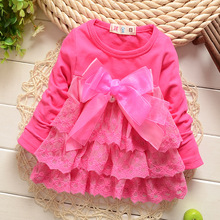 Girls' Lace dress  2016  new Spring baby Girls Kid Children Clothing  0-3 years Retail and wholesale  good quality