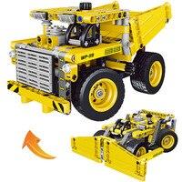 362 adet 2 in 1 Yeni Madencilik kamyon Tekerlekli buldozer yapı taşlarını Creator legoe Oyuncak Oyuncaklar Çocuklar için Mekanik hediye