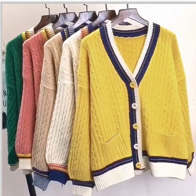 Womens Cardigan Spring 2018 Fashion Sweaters Coat With Button Autumn Ladies Luxury Elegant Cardigans Knitwear Outwear Ladies