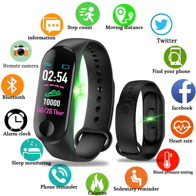 Women Fashion Smart Sports Bracelet Wristband Blood Pressure Heart Rate Monitor Pedometer Smart Watch Men For Android iOS 2019