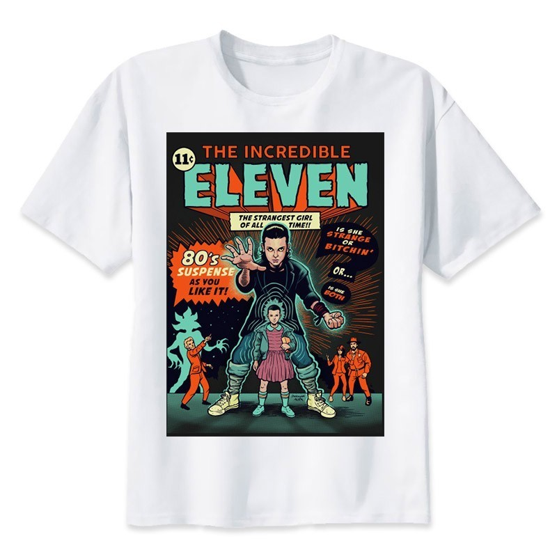BTFCL 2019 New Stranger Things T-shirt Summer Fashion TShirt Men T Shirt Casual Eleven O-Neck Top Tees Camiseta Masculina