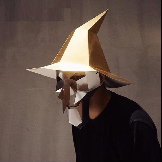 Heerlijk Heks Hoofd Papier 3d Diy Materiaal Handleiding Creatieve Hoofd Mask Party Masquerade Tonen Rekwisieten #1165 Tij Hand Made Leuke Masker