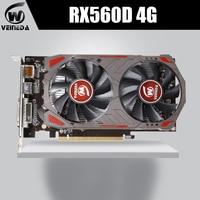 VEINIDA Graphics Card Radeon Rx560D GPU 4Gb Gddr5 128bit Pci Express 3.0 Directx12 Video Gaming For Desktop