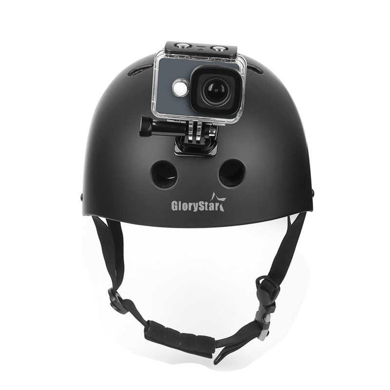 Действие Камера аксессуары набор для GoPro Hero 5 6 3 4 Xiaomi Yi 4 К SJCAM SJ4000 H9 нагрудный ремень опорное крепление Go Pro Шлем Комплект