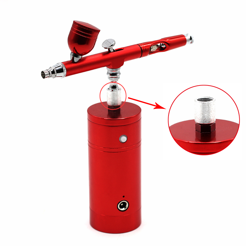Dual Action Airbrush Kit Compressor Portable Air Brush Paint Spray Gun For Nail Art Desgin Tattoo Cake Beautiful