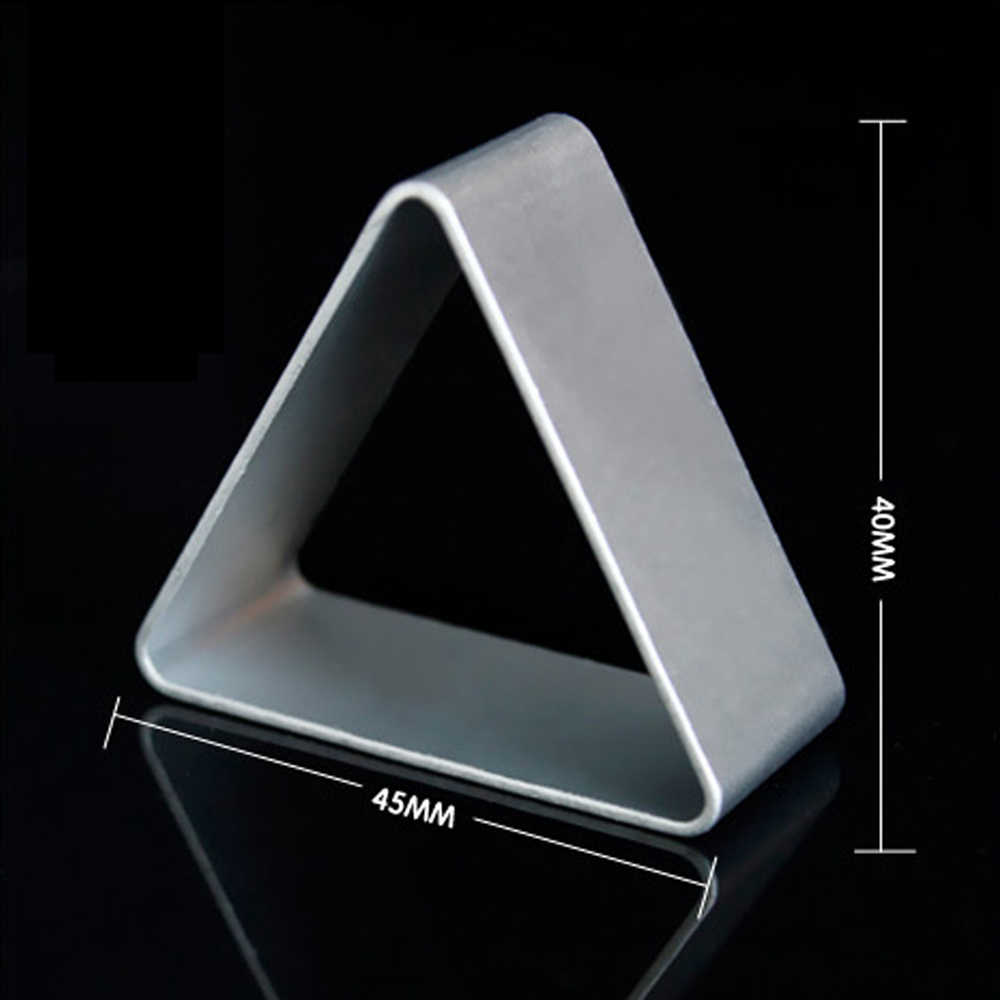 Hot 1PCS Aluminum Mold  triangle Shape Fondant Cake Decorative tools 3D Pastry Cookie Cutter Biscuit mould A119