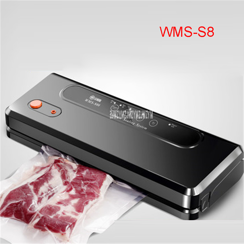 WMS-S8 110-240V KitchenBoss sealer Empty Family Vacuum Automatic Sealing wet and dry Vacuum packaging machine Food Sealers 220v 220v full automatic electric vacuum sealing machine dry and wet vacuum packaging machine vacuum food sealers