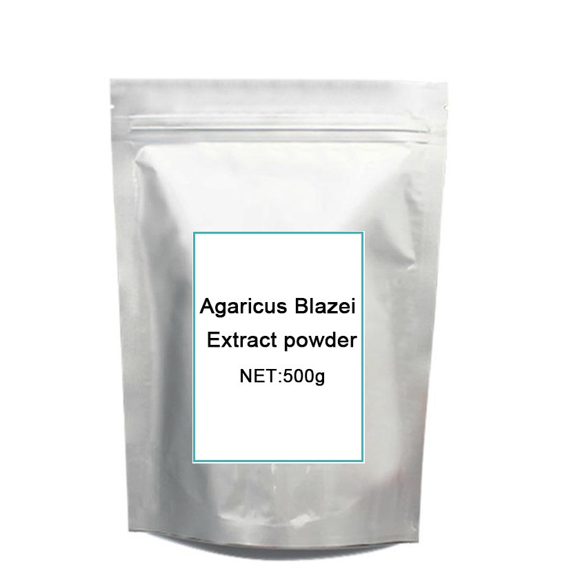GMP Certified 500g anti-tumor and cancer/ Mushroom/ Agaricus Blazei Extract/90%Polysaccharides power for free shipping цена