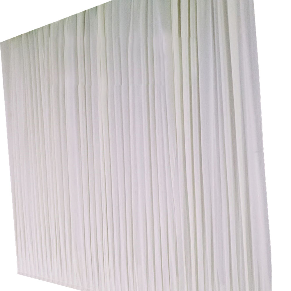 4*4m Ice Silk Wedding Fabric Backdrop Curtain Background For Pipe and Drape Dispalys