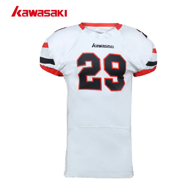 Kawasaki Brand Youth Custom Sublimated American Football Jersey Mens USA Collage Train Practice Breathable Sports Football Top