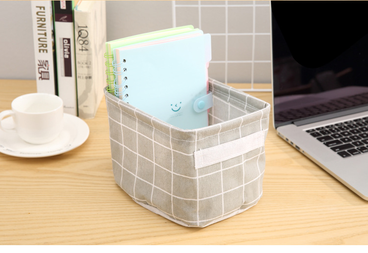 Foldable Desktop Storage Basket Creative Bin Closet Toy Box Container Organizer Fabric Organizer Container Box Laundry Basket (3)