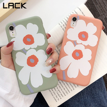 LACK INS Matte silicon Flowers Soft Cases For