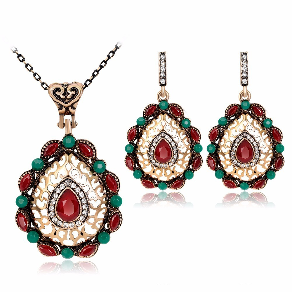 Direct Selling Classical And Elegant Chinese Style Costume Wedding Jewelry  Sets Silver Earring Bracelet Necklac Bridal