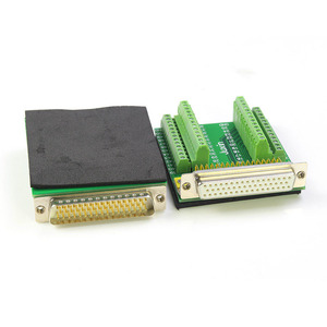 Image 4 - Pure Copper DB50 Free Soldering 50Pin Connector Without Soldering Male Female Adapter Plate Terminal Block