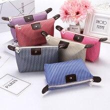 Dumpling Travel Makeup Bag Organizer Stripe Women Cosmetic Toiletry Pouch Portable Korean Version Make Up Female Wash