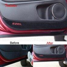 Tonlinker межкомнатные двери анти-грязный коврик крышка наклейки для Honda vezel HRV-19 Автомобиль Стайлинг 4 шт. полиэстер крышка наклейки