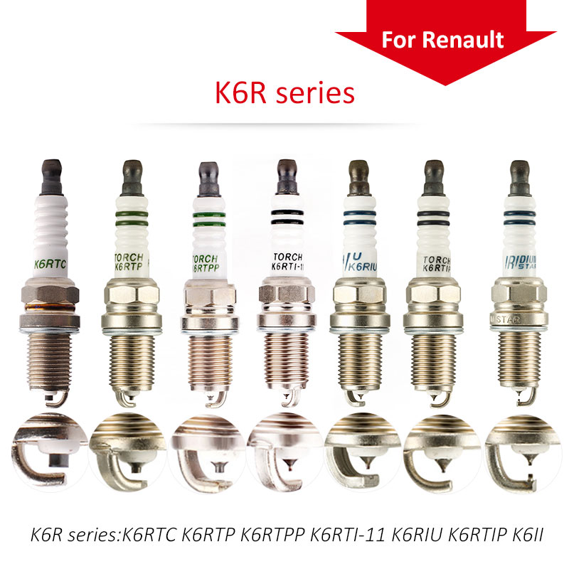 4pcs/lot China original TORCH spark plugs K6R series For Renault