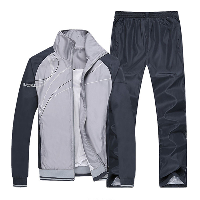 New Men Sets Fashion Autumn Spring Sporting Suit Sweatshirt +Sweatpants Male Sportswear Clothing 2 Pieces Sets Slim Tracksuit
