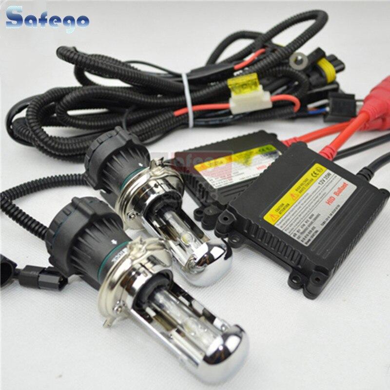 1 set h4 bi xenon, H13 9004 9007 bi xénon Haute Faible Faisceau, flexible Xenon HID KIT SET 35 w HID XENON kit DC12V hid conversion kit