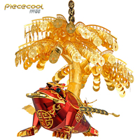 2019 Piececool Figure Toy Golden Toad model DIY laser cutting Jigsaw 3D Metal puzzle model Nano Puzzle Toys for children adult