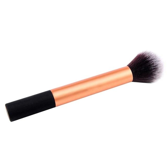 Mieszkanie Contour Fundacja Twarzy Kabuki Blush Powder Makeup Muśnięcie Kosmetyczne Narzędzie Hot
