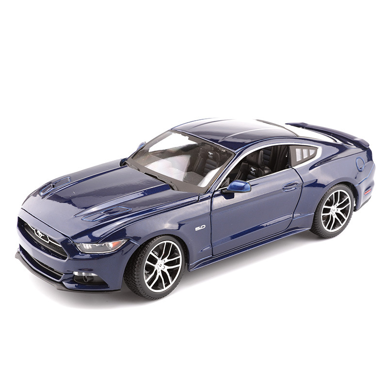 1:18 Scale Diecast Metal Car Model Toys For Ford Mustang Sports Car Model With Steering Wheel Control With Original Box