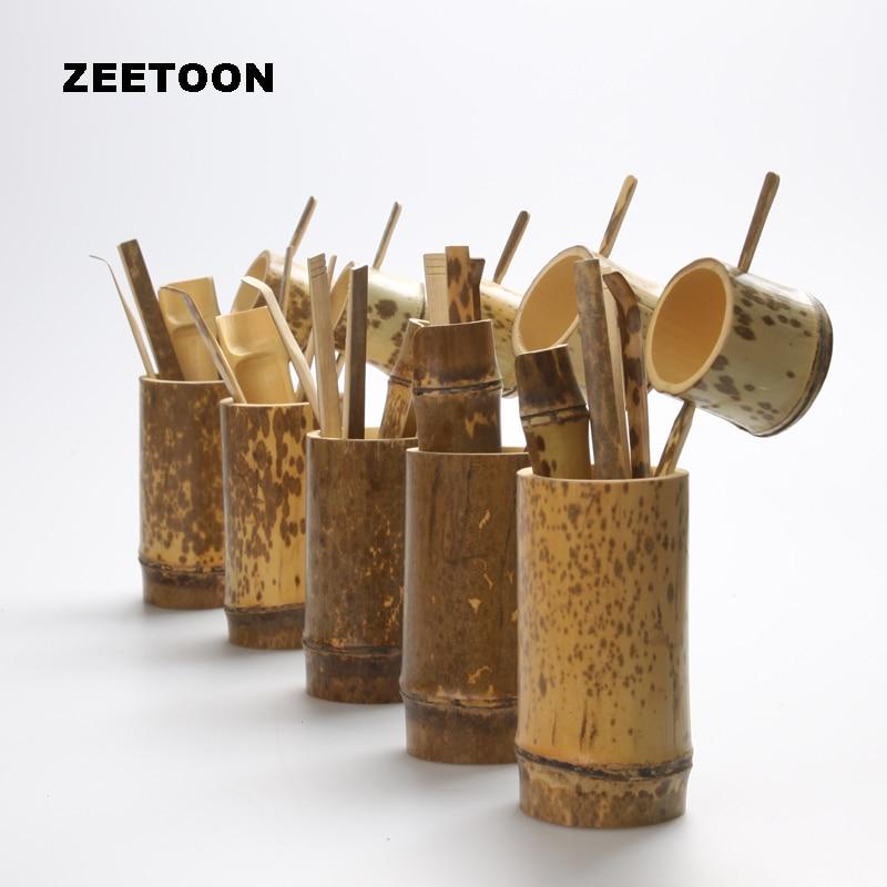 Natural Bamboo Tea Accessories Set