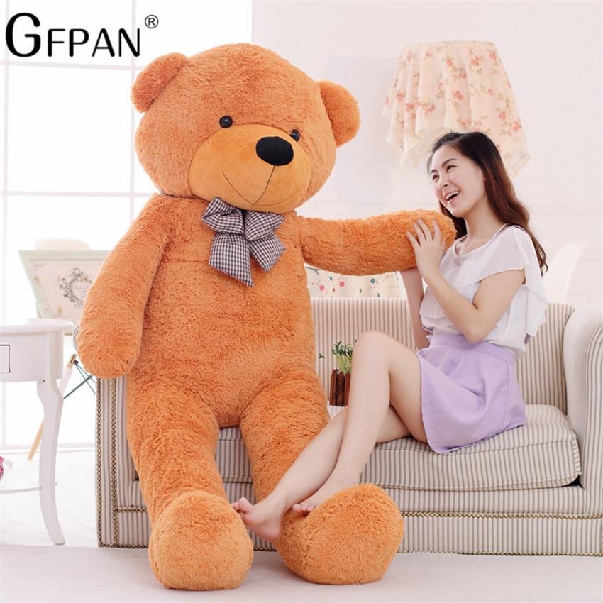 1PC 140cm,160cm Big Size Classic Teddy Bear Plush Skin High Quality Low Price Bear Coat Birthday Gift Valentine Gift For Girls