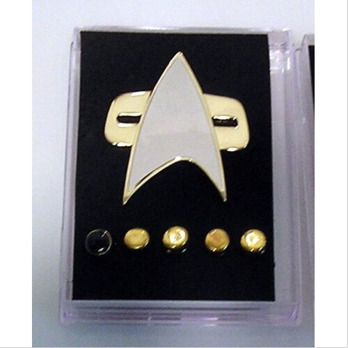 Star Voyager Communicator Trek Metal Badges Pin&Rank Pip/Pips 6pcs Set Cosplay Prop