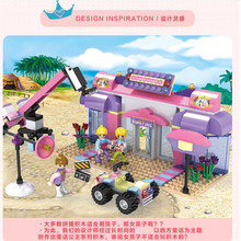 Фотография Dream Girls Micro Blocks Luxury Submarine&Shooting Scene Children Kids Educational Action Figure Toys Compatible with COGO 14503