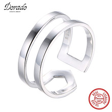 Dorado Individuality Statement Punk Rings Wide Big Steampunk 925 Sterling Silver Finger Ring For Men Women Unisex