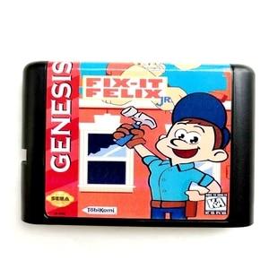 Image 1 - Fix It Felix  16 bit MD Memory Card for Sega Mega Drive 2 for SEGA Genesis Megadrive
