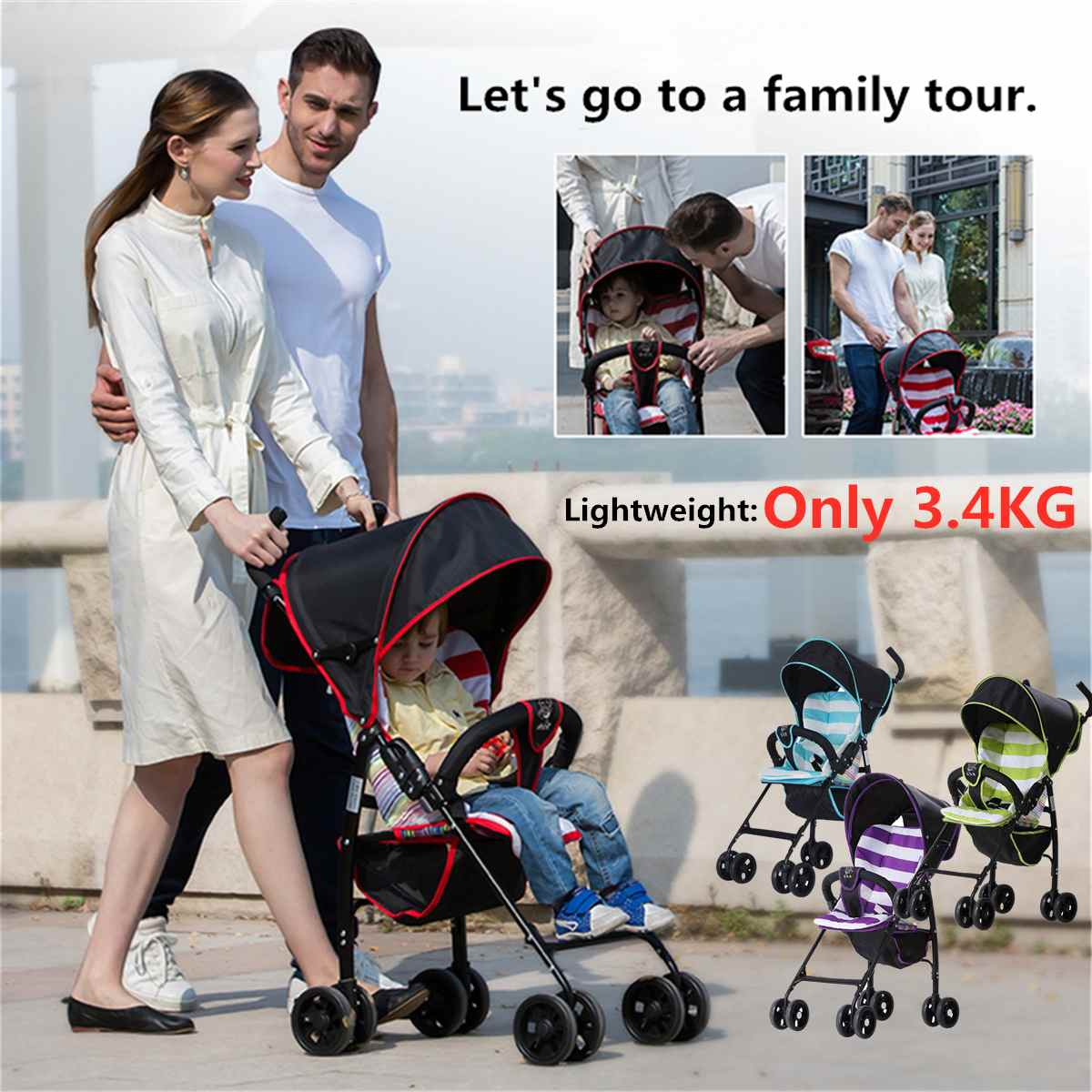 Foldable Lightweight Baby Stroller For 0-3 Years Old Kids 3.4Kg Carrying Capacity Outdoor Activity Kids Wheels Stroller ToddlerFoldable Lightweight Baby Stroller For 0-3 Years Old Kids 3.4Kg Carrying Capacity Outdoor Activity Kids Wheels Stroller Toddler