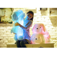 50cm Colorful LED Glowing Dogs Luminous Plush Children Toys For Girl Night Dog Stuffed Plush Toys