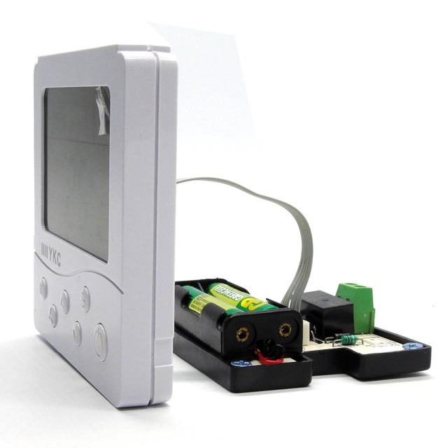 Battery powered Digital LCD programmable Boiler thermostat with Gas ...
