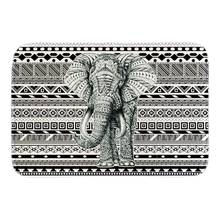 Cute Animals Doormats Decor With Black Elephant Door Mats Home Decor Soft Lightness Floor Mats Short Plush Fabric Bathroom Mats