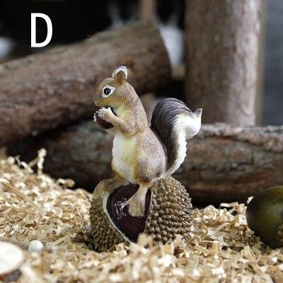 Ameriška podeželska smola veverica z oreščki Umetne figurice - Dekor za dom - Fotografija 6