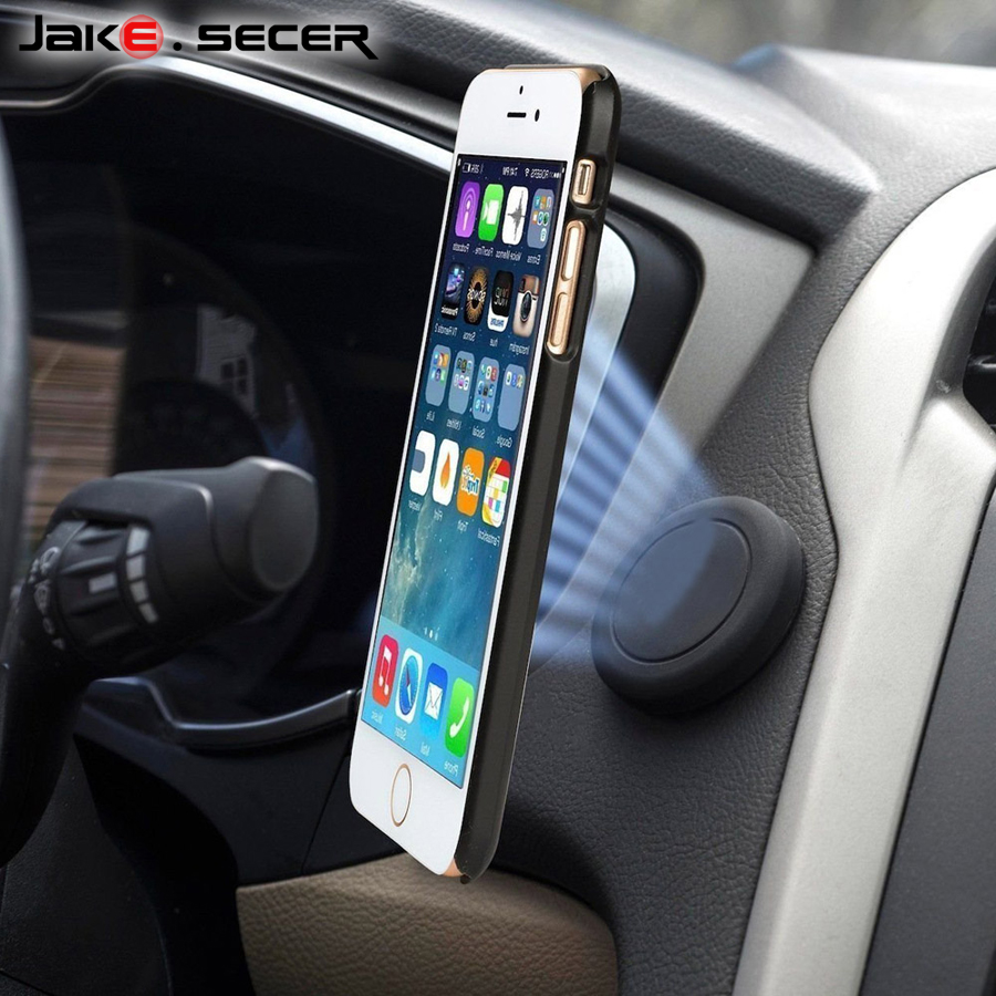 Jake.Secer Mobile Phone Car Holder Magnetic 360 Universal Car Cell Phone Holder Magnet for iPhone 6s 6 7 Plus for Samsung S8 S7