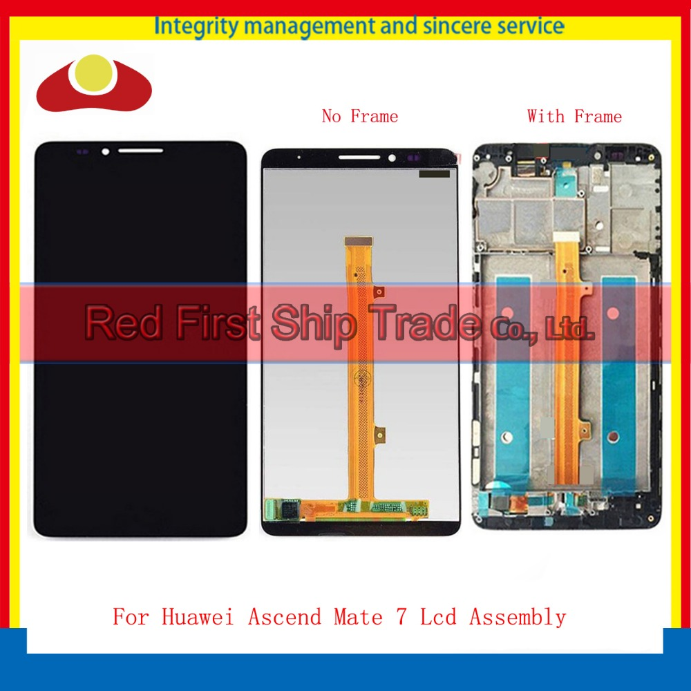 High Quality 6.0 For Huawei Ascend Mate 7 MT7 Mate7 MT7-TL00 Lcd Display Touch Screen Digitizer Assembly Complete With Frame yueyao lcd for huawei mate 7 lcd display touch screen original assembly replacement for ascend mate 7 lcd screen display