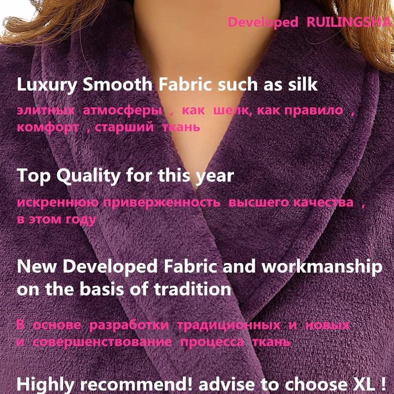 Unisex Mens Women\'s Long Polyester Sleep Lounge Robes RBS-C LYQ114 38_2