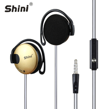 Headphone Shini Q140 Stereo EarHook Earphones Earbuds Super Bass Headset Handsfree 3.5MM With MIC 9 Colour цена в Москве и Питере