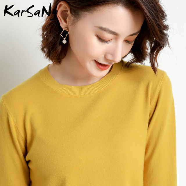 Yellow Cashmere Sweater For Women Sweaters Female Pink Wool Winter Woman Sweater Knitting Pullovers Knitted Sweaters Jumper 2020 3
