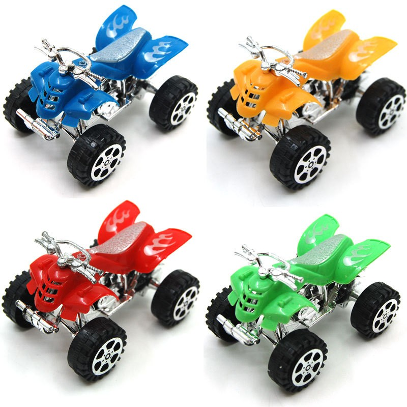 new puzzle small toys back to the beach motorcycle toy car high quality plastic pull back