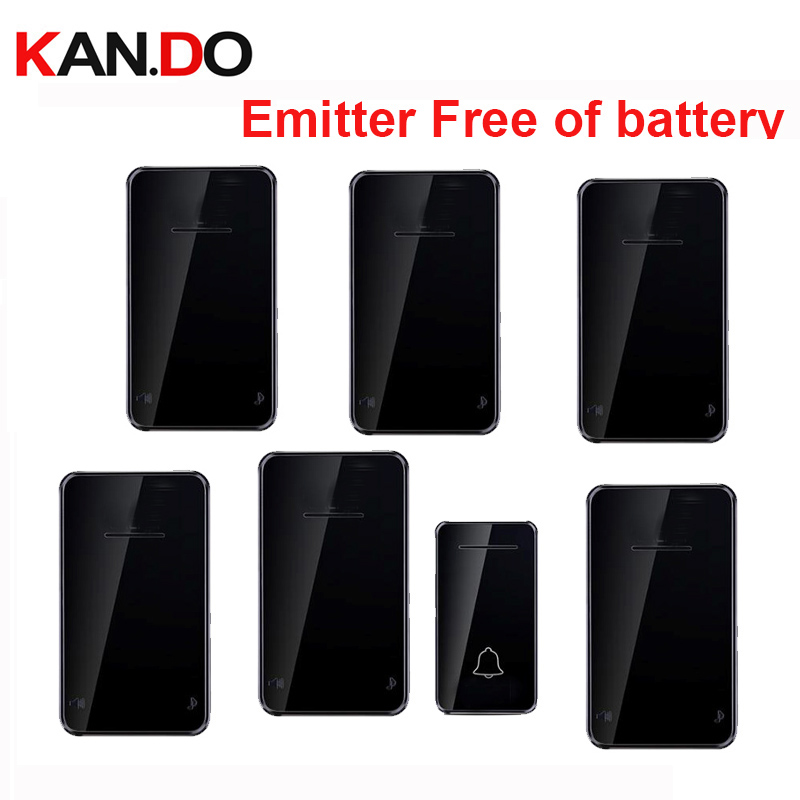 black color Emitter free of battery bell kits 6 RX wireless door bell 110-220V wireless doorbell ip44 200M door chime door ringblack color Emitter free of battery bell kits 6 RX wireless door bell 110-220V wireless doorbell ip44 200M door chime door ring