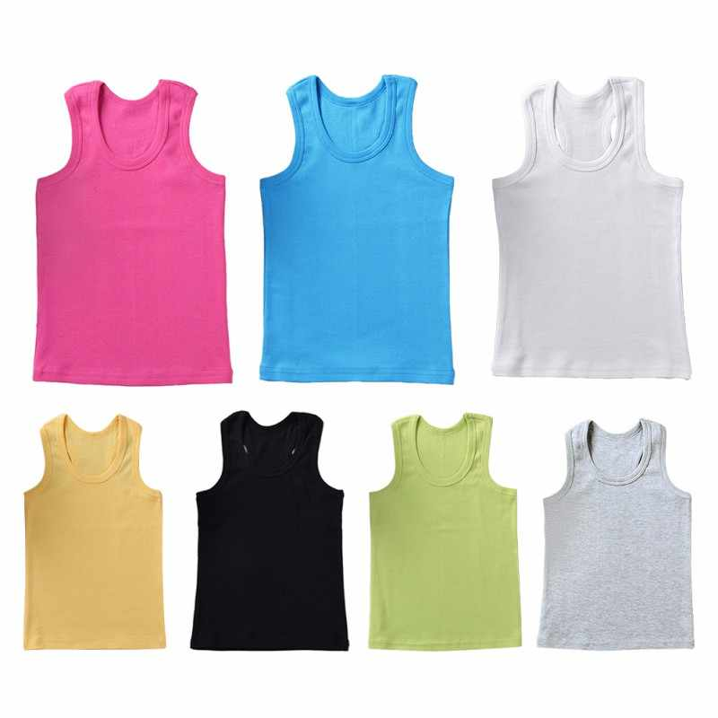 קיץ ילדים תינוק אפוד גופיות גופיית 7 Colores ממתקי Cottont תחתוני ילדי בני בנות וסטים חולצות