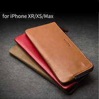 Multi function Wallet Case for iPhone XS MAX Genuine Leather Phone Pouch for iPhone XR Fashion Sleeve for iPhone 9+Phone Holder