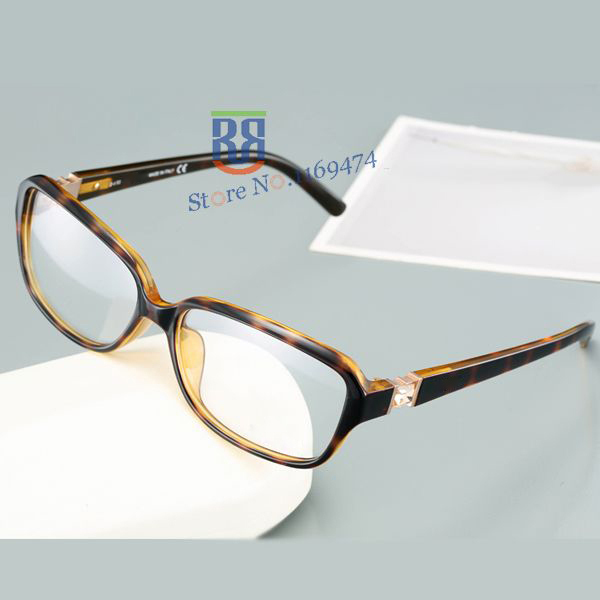 Moda óculos de armação mulheres strass óculos quadro limpar óculos de prescrição frame ótico de óculos Ultra light 5016