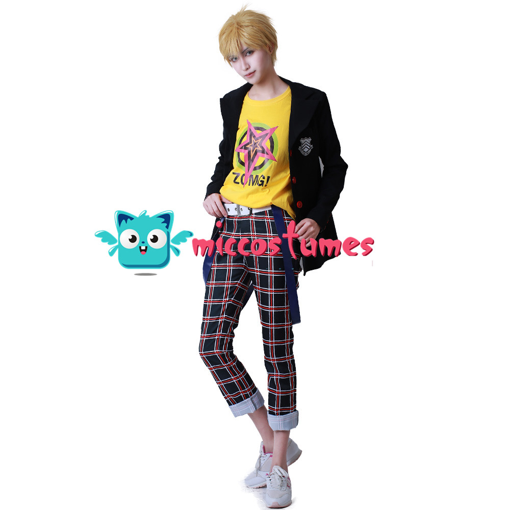 Persona 5 Ryuji Sakamoto Shujin Skull Cosplay Costume School Uniform Outfit