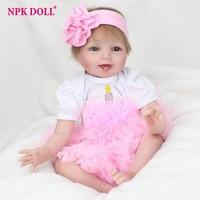 55cm Silicone Vinyl Baby Doll Reborn Cute Bebe Pink Princess Newborn Babies Doll Girl Child Brithday
